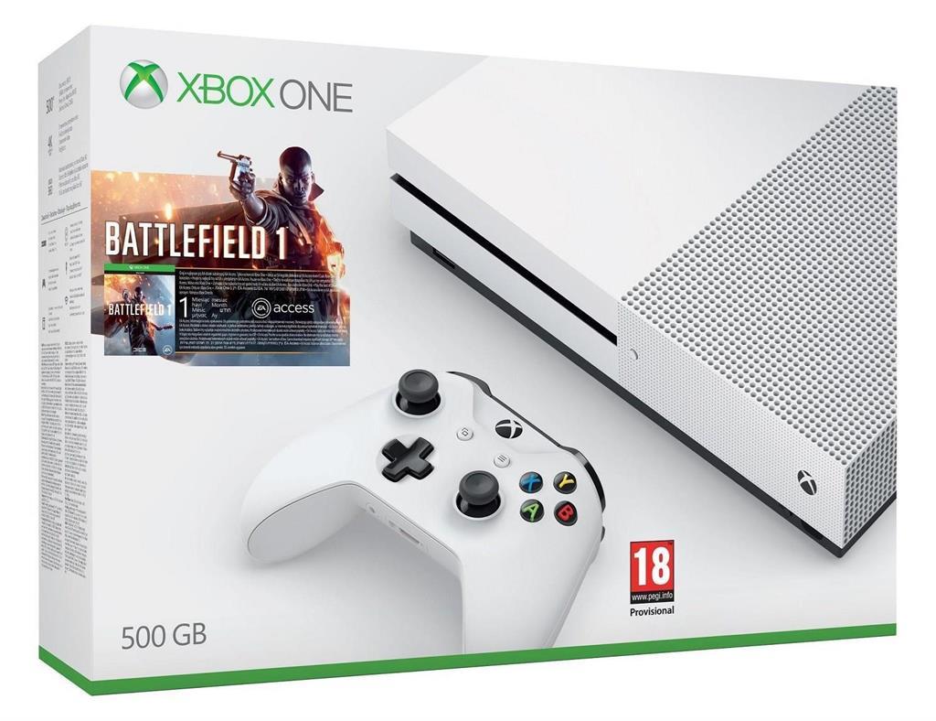 Xbox One S 500GB + Battlefield 1 + 1m EA Access