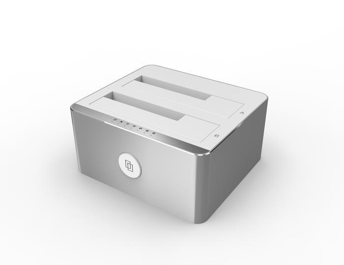 Unitek Y-3027 dokovací stanice dual HDD USB Typ-C, funkce klonování offline
