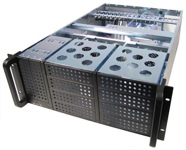 Chieftec IPC PC skříň 4U UNC-410F-B, zdroj 400W (PSF-400A)