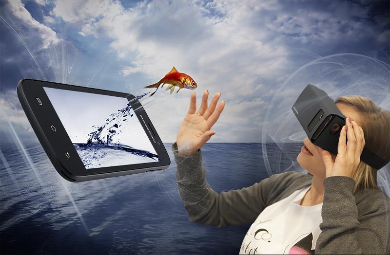 Modecom FreeHANDS MC-3DCPL-G1 3D brýle pro smartphony
