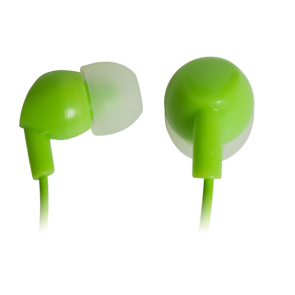 VAKOSS Stereofonní sluchátka do uší, silikonová, zelená