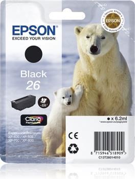 Inkoust Epson T2601 black Claria   6,2 ml  XP-600/700/800
