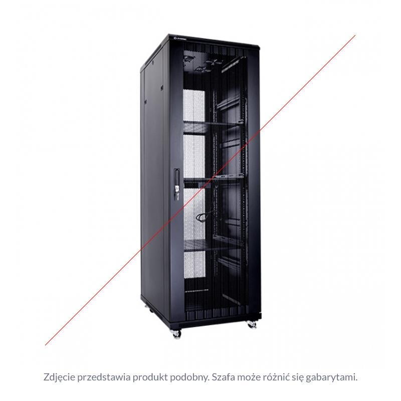 Linkbasic rack cabinet 19'' 47U 800x1200mm black (perforated steel front door)