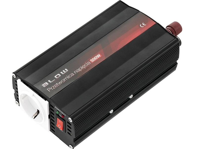 BLOW měnič napětí 12V/230V 500W