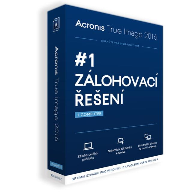 Acronis True Image 2016 - 1 Computer - Upgrade BOX CZ