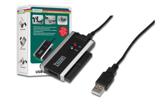 DIGITUS Cable Adapter USB2.0 to SSD/HDD 2.5''/3.5'', IDE/SATA II