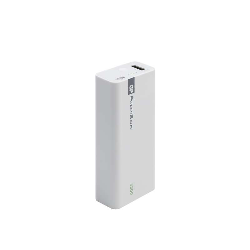 GP Powerbank 1C05W, záložní zdroj 5200 mAh, 1x USB, 1.6A, bílá