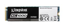 Kingston SSD 960GB KC1000 NVMe PCIe Gen3x4 M.2 2280 MLC (čtení/zápis: 2700/1600; 290/190K IOPS)