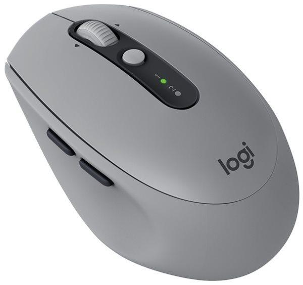 Logitech myš M590 Silent, optická, 7 tlačítek, mid gray