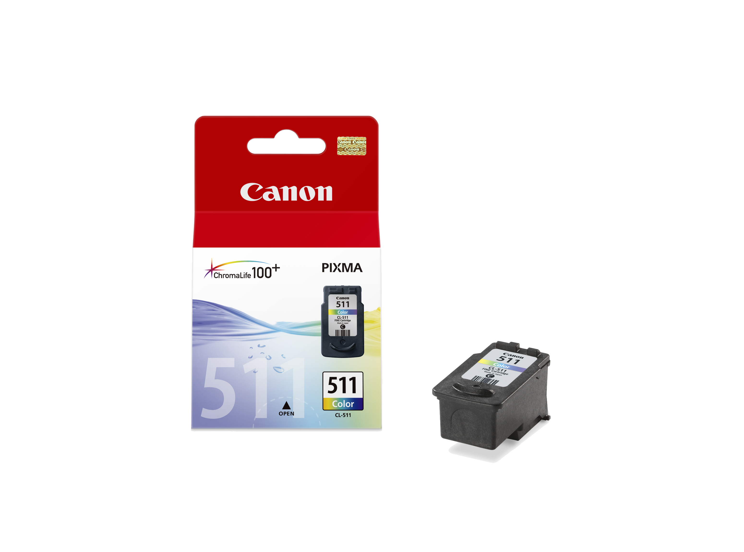 Canon cartridge CL-511 BLISTR bez ochrany (CL511)