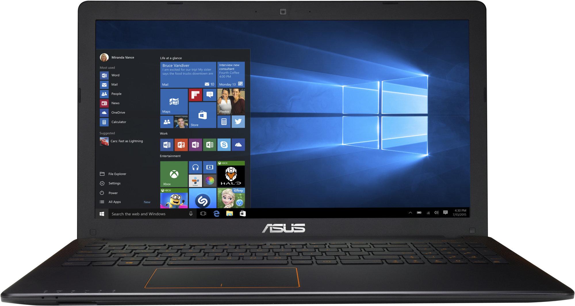 "ASUS F550VX-DM587T i7-7700HQ/8+8GB/256GB SSD M.2 + 1TB 5400 ot./GeForce 950M/15,6"" FHD LED matný/Win10/black"