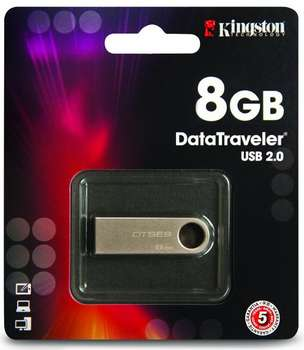 KINGSTON 8GB USB 2.0 DataTraveler SE9 (Kovový)