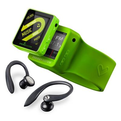 ENERGY 2508 Sport 8GB Lime Green, sportovní MP4 přehrávač,FM,popruh,adapt. sluch.