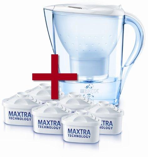 Filtrační konvice Brita Marella Cool bílá, pololetní balíček