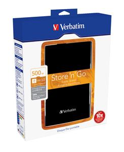 "VERBATIM HDD 2.5"" Store 'n' Go 500GB USB 3.0, Black"