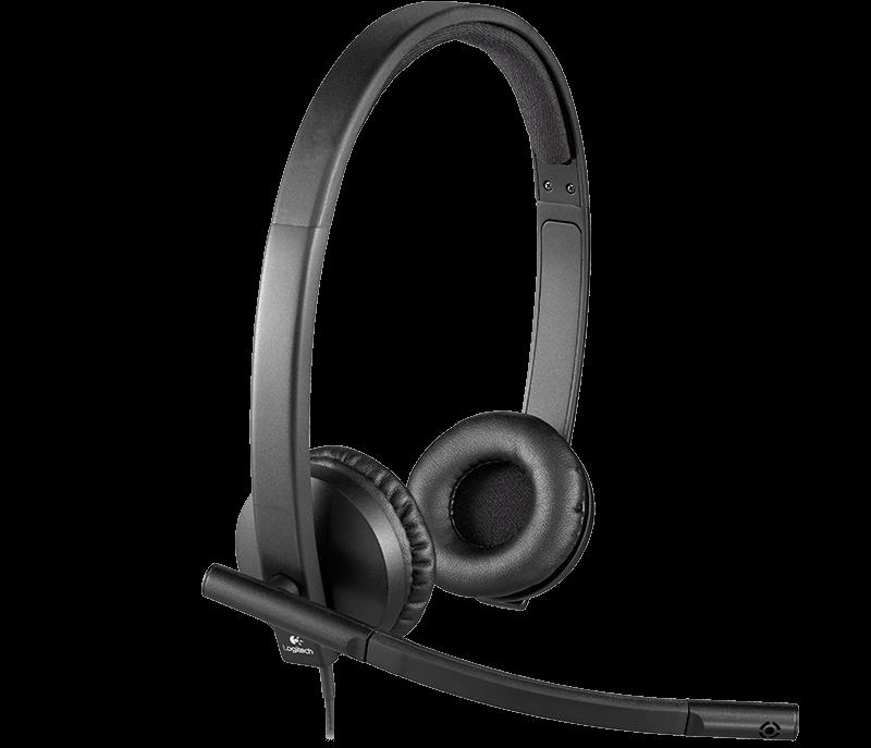 Logitech náhlavní souprava Headset H570e, černá