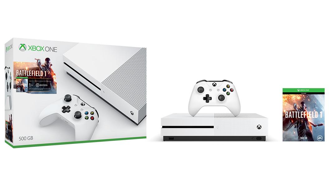 XBOX ONE S 500 GB + 1 x hra (Battlefield 1) + 1 měsíc EA Access