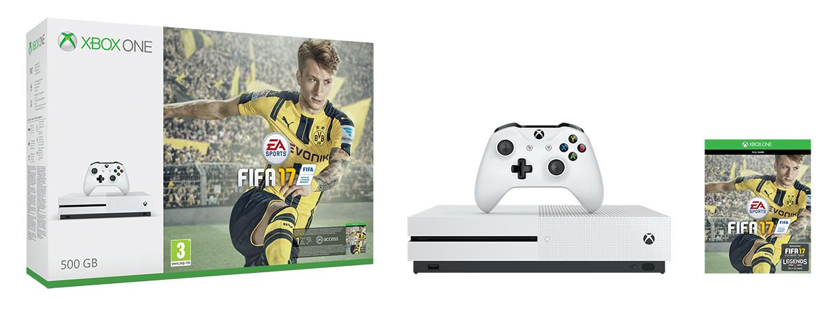 XBOX ONE S 500 GB + 1 x hra (FIFA 17) + 1 měsíc EA Access