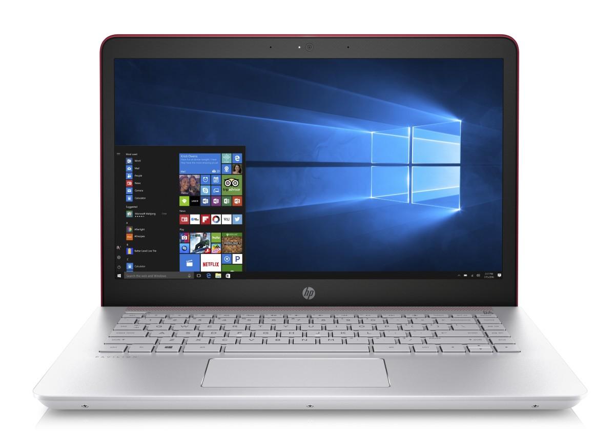 """HP Pavilion 14-bk003nc/Intel i3-7100U/4GB/1TB/Intel HD/14"""" FHD/Win 10/červená"""