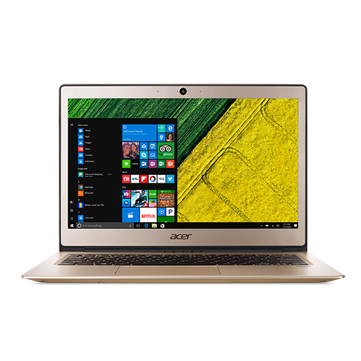 "Acer Swift 1 (SF113-31-P3CJ) Pentium N4200/4GB+N/A/eMMC 64GB+N/A/HD Graphics/13"" FHD IPS LED/BT/W10 Home/Gold"