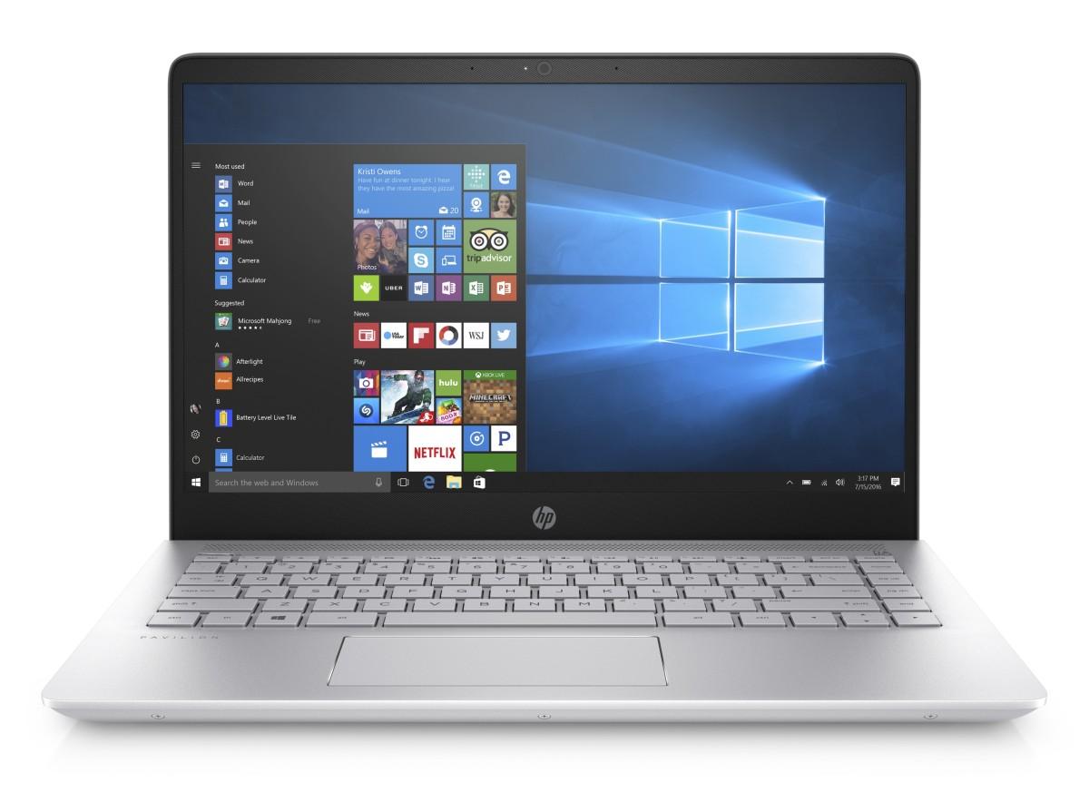 """HP Pavilion 14-bf007nc/Intel i7-7500U/8GB/256GB SSD M.2 + 1TB/Nvidia GF 940 MX 2GB/14"""" FHD/Win 10/stříbrná"""