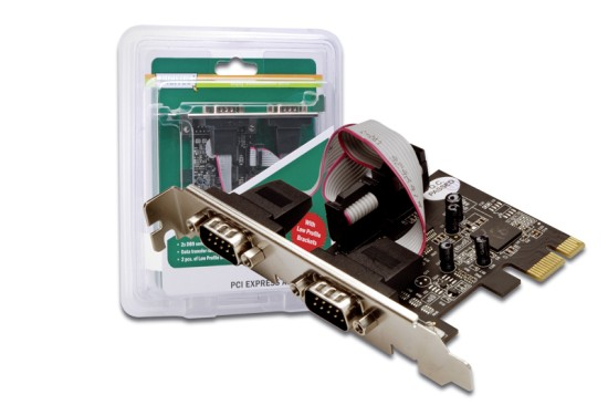 Digitus Adaptér PCI Express x1 2xseriový port, +low profile