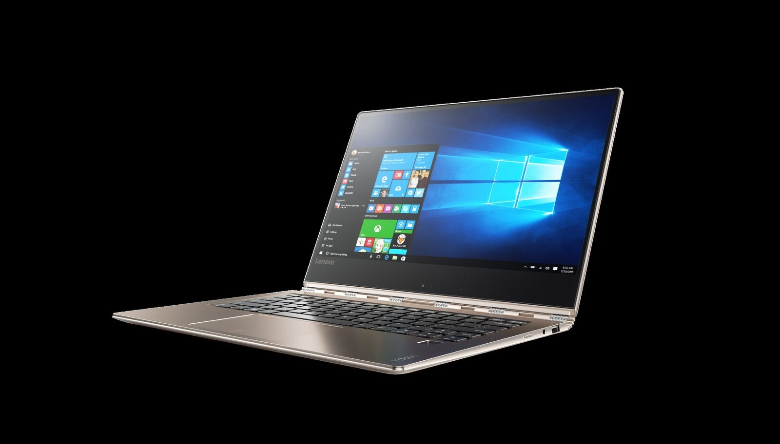 Lenovo IdeaPad YOGA 910-13 IKB 13.9 FHD IPS M Touch/i7-7200U/8G/256SSD/INT/W10H/Backlit/720p/Zlatá
