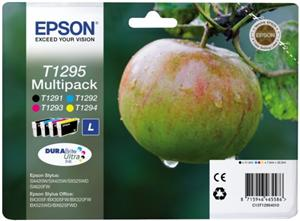 EPSON cartridge T1295 (black/cyan/magenta/yellow) multipack (jablko)