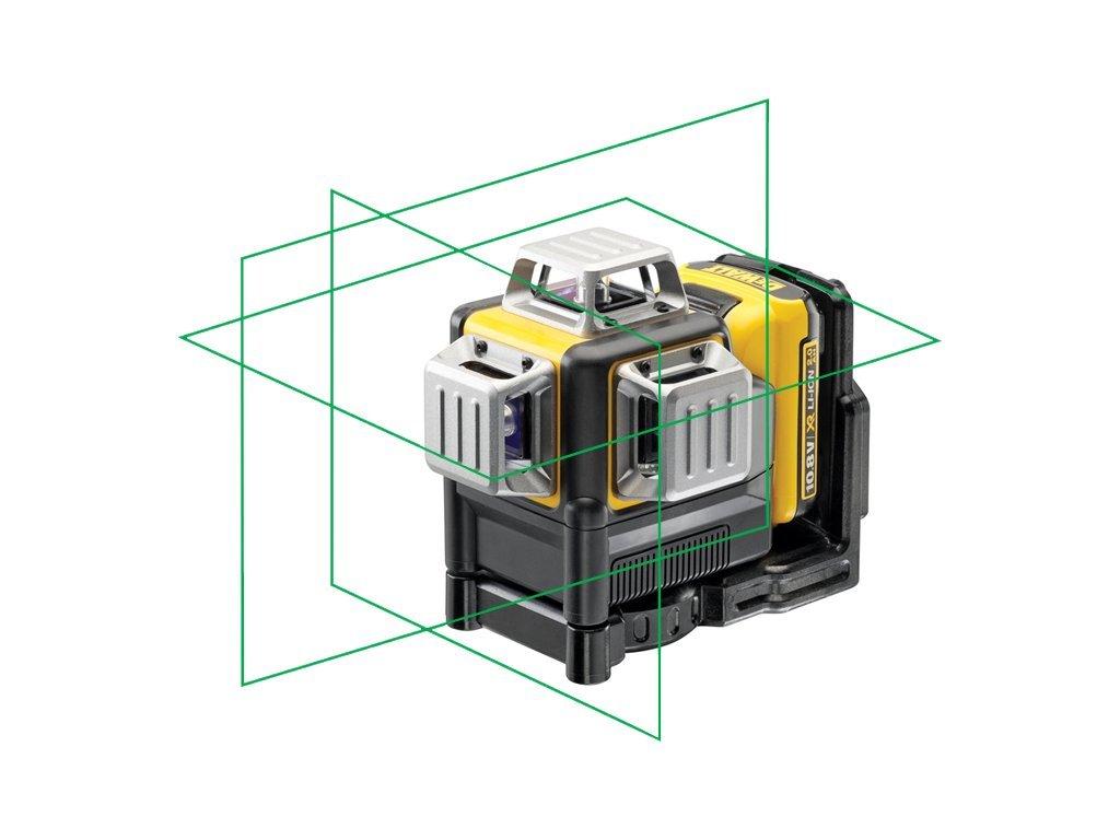 DeWALT DCE089D1G Aku křížový laser 360° 10,8 V 2,0Ah