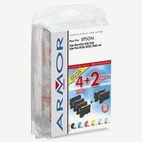 ARMOR cartridge pro Epson Stylus Photo R265, sada BK/C/M/Y/PC/PM (T080X)
