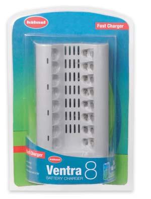 Hähnel Ventra 8 - Multiple AA & AAA batteryFast desktop charger