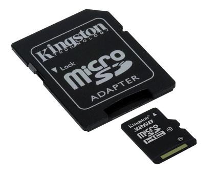 KINGSTON 32GB microSDHC Class 10 karta s adaptérem