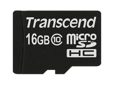 Transcend 16GB microSDHC (Class 10) paměťová karta (bez adaptéru)