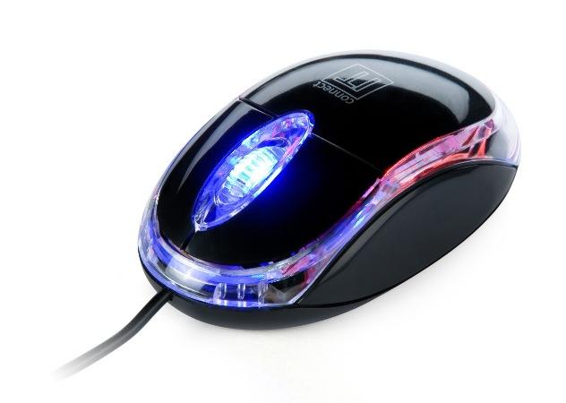 Connect IT - LED podsvícená mini optická MYŠ