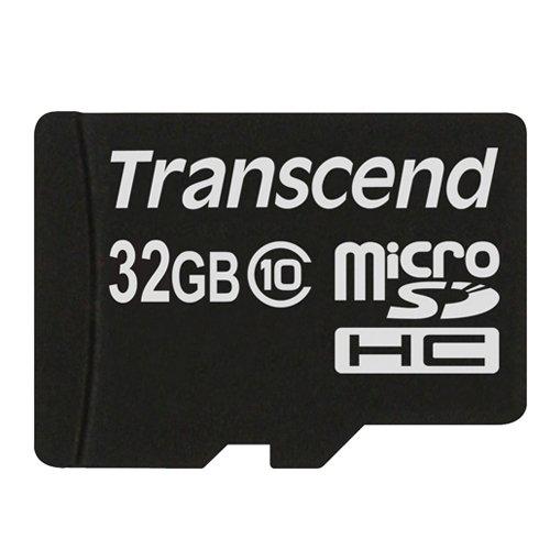 Transcend 32GB microSDHC (Class 10) paměťová karta (bez adaptéru)