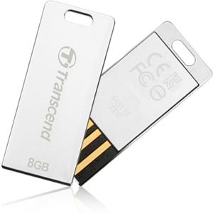 TRANSCEND USB Flash Disk JetFlash®T3S, 16GB, USB 2.0, Silver (odolný vůči prachu, vodě i nárazu) (R/W 19/5 MB/s)