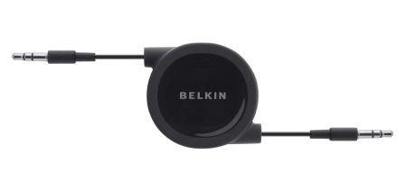 Belkin audio kabel 3.5mm/3.5mm zatahovatelný - 0,8m