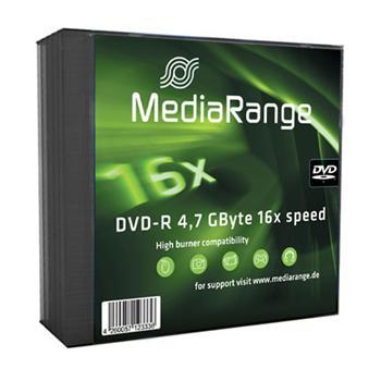 MEDIARANGE DVD-R 4,7GB 16x slimcase 5pck/bal