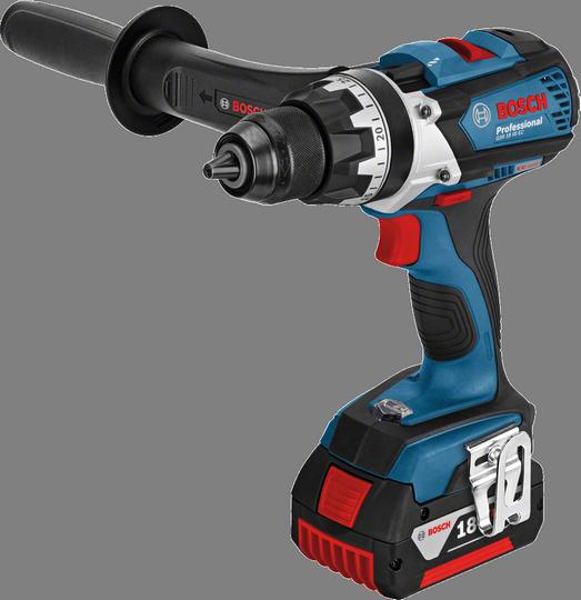 Aku vrtací šroubovák Bosch GSR 18 VE-EC Professional (2x 4,0 Ah), 06019F1101