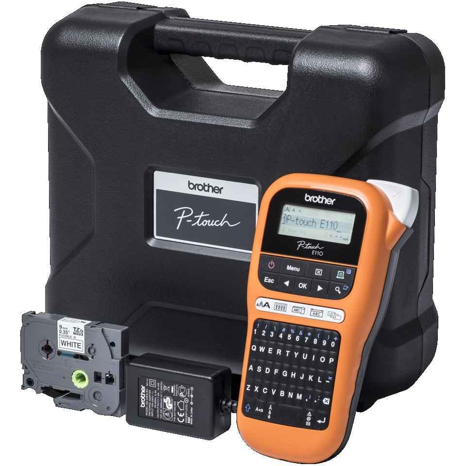 Brother PT-E110VP tisk. samolep. štítků, pro pásky 6-12mm + kufřík