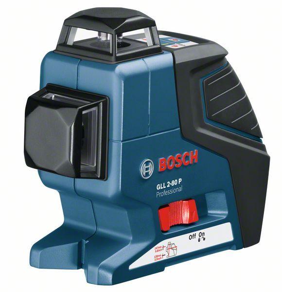 Čárový laser Bosch GLL 2-80 P + L-BOXX, univerzál. držák BM 1 Professional, 0601063208