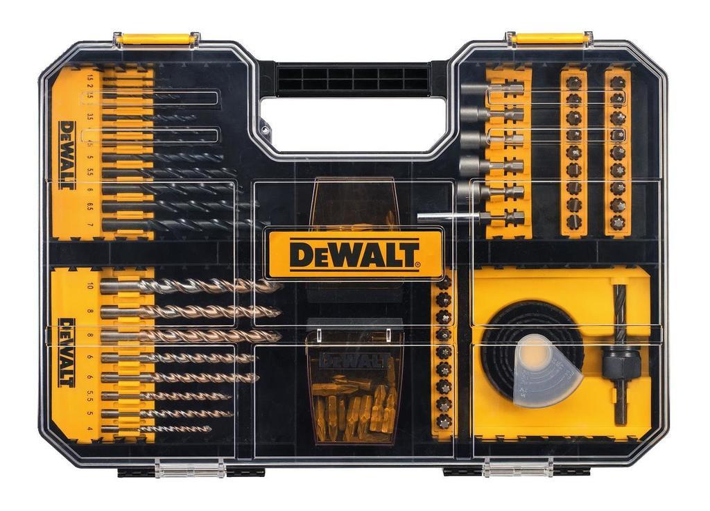 Sada bitů a vrtáků kompatibilní se zásuvkami TSTAK IV, DeWALT DT71569 100dílná