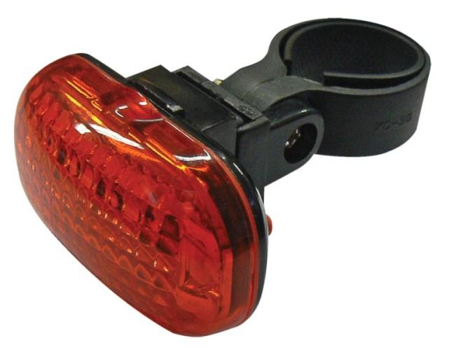 Emos LED cyklosvítilna XC-714T, 3x LED, 2x AAA, zadní