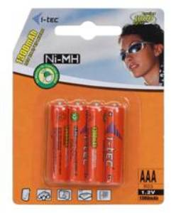 i-Tec nabíjecí baterie AAA 1300 mAh, 4 ks