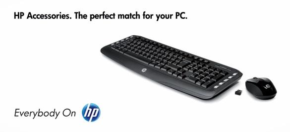 HP set klávesnice a myši, bezdrátová, CZ