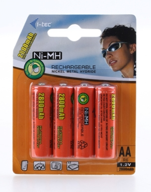 i-tec Nabíjecí baterie AA (4x 2800mAh)