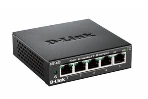D-Link DES-105/E 5-port 10/100 Metal Housing Desktop Unmanaged Switch