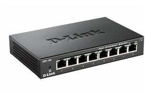 D-Link DES-108 kovový 8-port 10/100 Desktop Switch