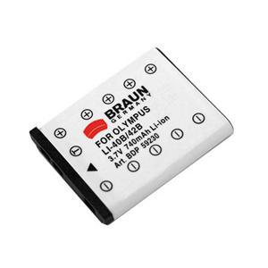 BRAUN akumulátor - OLYMPUS LI-40B, CASIO NP-80...