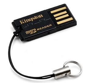 miniaturní čtečka microSDHC karet Kingston